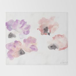 180807 Abstract Watercolour 14| Colorful Abstract |Modern Watercolor Art Throw Blanket