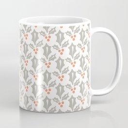 Winter Holly Leaves Berries Coffee Mug