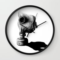 mask Wall Clocks featuring Mask by sssarisss