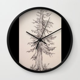 Old Cedar In Ink Wall Clock