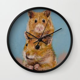 Hamsters Wall Clock