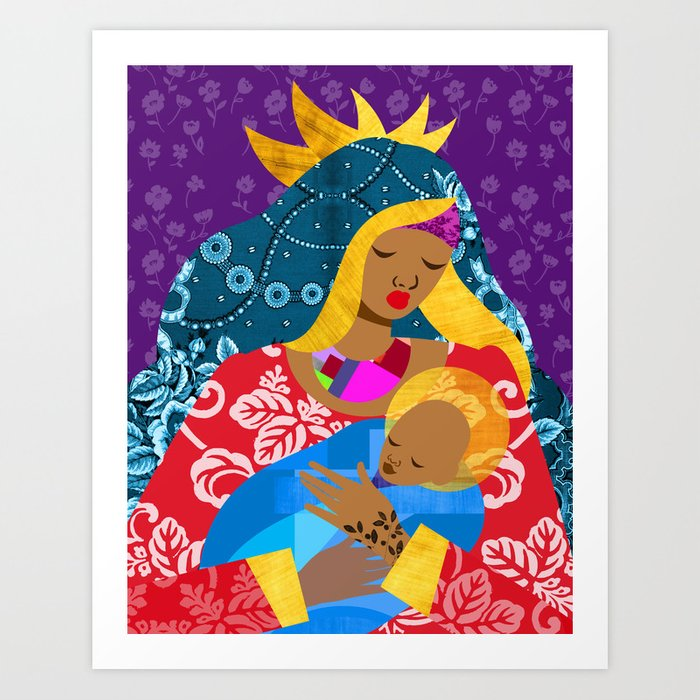 Virgin Mary and Child Kunstdrucke