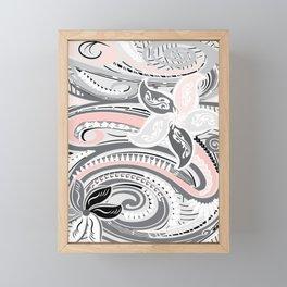 Polynesian Tribal Pink Threads Framed Mini Art Print