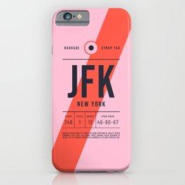 Baggage Tag E - JFK New York John F. Kennedy USA iPhone Case