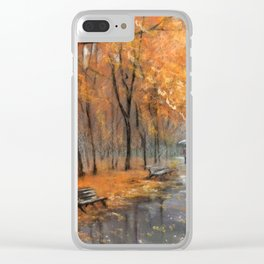 Autumn in the park # 2 Clear iPhone Case