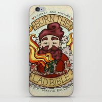 bible iPhone & iPod Skins featuring Burn The Lad Bible by Roseanna Hanson