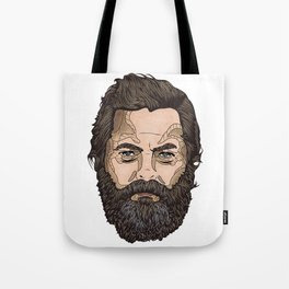 The Face Of Nick Offerman Tote Bag