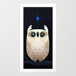 Starla the Owl Art Print
