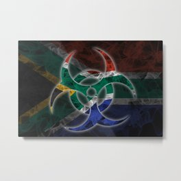 Biohazard South Africa, Biohazard from South Africa, South Africa Quarantine Metal Print