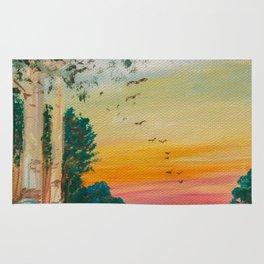 Daybreak at the Pond's Edge by Ainé Daveéd Rug