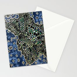 A fantastic map Stationery Cards
