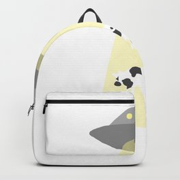 Spaceship Cow Abduction UFO Alien Moo Art Backpack