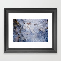 frozen lakes II Framed Art Print