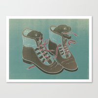 heels Canvas Prints featuring Moray Heels by Jacqueline Pytyck