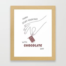 Chocolate Day! Framed Art Print