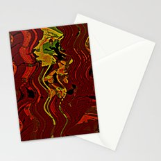 Palm and mysterious shape Stationery Cards