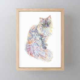 Siberian Forest Cat - Mowgli Framed Mini Art Print