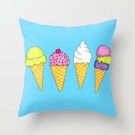 Ice cream (Sweets #4) Throw Pillow