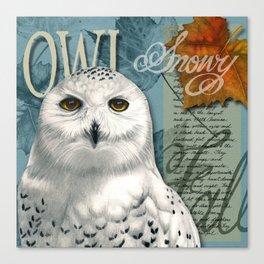The Snowy Owl Journal Canvas Print