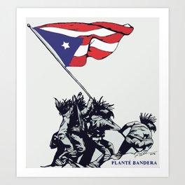 Planté Bandera Art Print