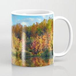 Vibrant Autumn Reflections Coffee Mug