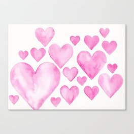 Hearts 3 Canvas Print