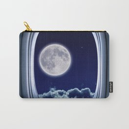 Airplane window with Moon, porthole #3 Carry-All Pouch