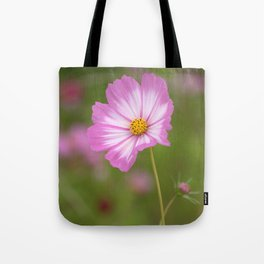 Pink and White Cosmos Tote Bag