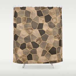 Mosaic Pattern - Golds #2 Shower Curtain