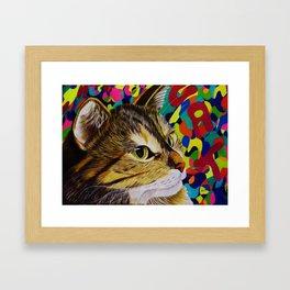 groovy cat Framed Art Print