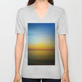Abstract Landscape 28 Unisex V-Neck