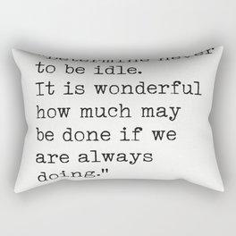 Thomas Jefferson quote 3 Rectangular Pillow