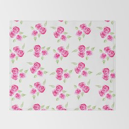 Cheerful Rose Throw Blanket