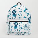seahorses pattern in blue by vanessagf