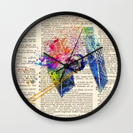 DICTIONARY ART #TIE FIGHTER Wall Clock