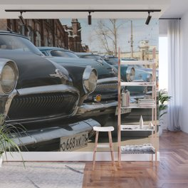 Fronts of vintage cars Wall Mural