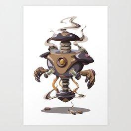 Service Bot Art Print