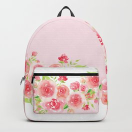 Garlands from Pink Roses Backpack