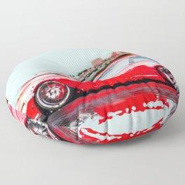 The Red Porsche Floor Pillow