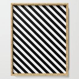 Classic Stripes (Black&White) Serving Tray