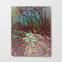 Nature's Crimson Flow Metal Print