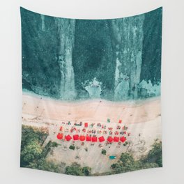 Beach sky view Wall Tapestry