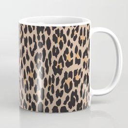 Animal Print, Spotted Leopard - Brown Black Coffee Mug