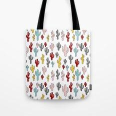 Colorful Cactus Pattern Tote Bag