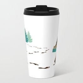 A Hairy Camp Robber Metal Travel Mug