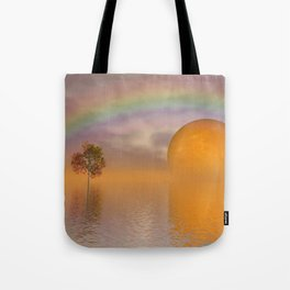 when the moon touched earth -13- Tote Bag