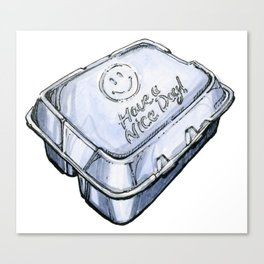Happy Take-Out Box Canvas Print