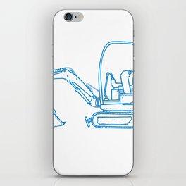 Mechanical Digger Mono Line iPhone Skin