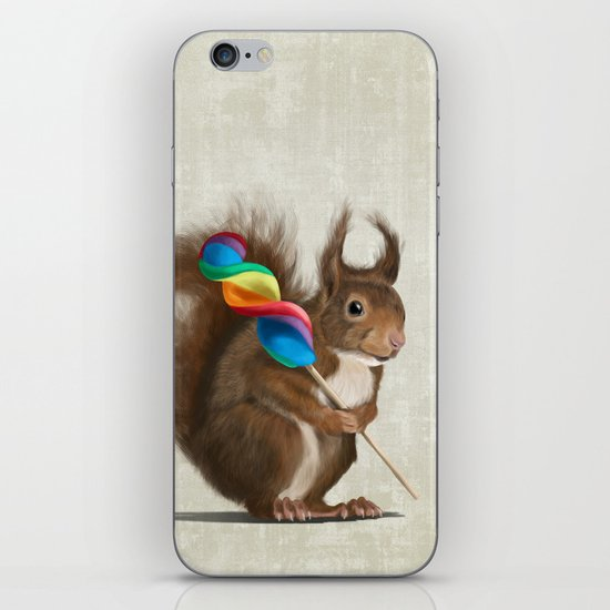 Squirrel with lollipop iPhone Skin