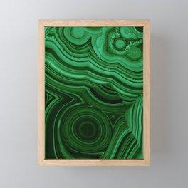 GREEN MALACHITE STONE PATTERN Framed Mini Art Print